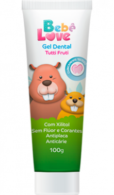 Gel Dental Bebê Love sem Fluor e sem Corante - 100g Nutriex