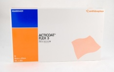 Curativo antimicrobiano Acticoat Flex3 10x20cm - 12un - Smith and Nephew